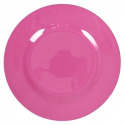 Assiette plate Mélamine - Rice - Fushia - 25 cm