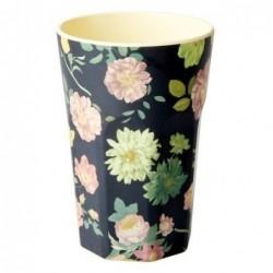 Long Mug Rice Mélamine - Dark flower