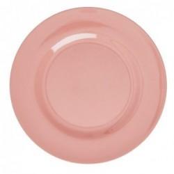 Assiette plate Mélamine - Rice - True Coral - 25 cm