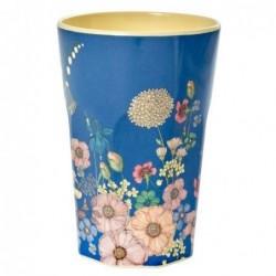 Long Mug Rice Mélamine - Flower collage