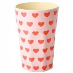 Long Mug Rice Mélamine - Sweet Heart