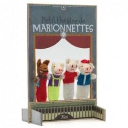Petit théâtre - Trois petits cochons - Londji - laine