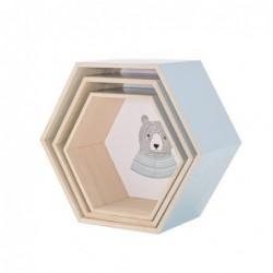 Lot de 3 Etagères hexagonales - Bloomingville - mini