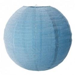 Abat-jour rond - Rice - Soft blue lurex - Large