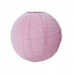 Abat-jour rond - Rice - Pink lurex - Small