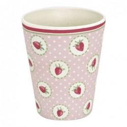Gobelet en bambou - Greengate - Stawberry pale pink