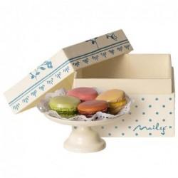 Macarons set - Maileg - Boite à pois bleus