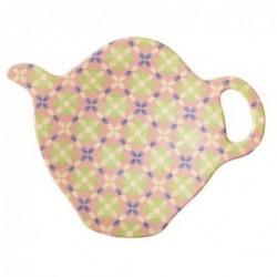 Coupelle à sachet de thé - Mélamine Rice - Flower Tile