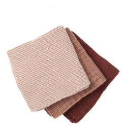 Lot de 3 serviettes de table - Broste Copenhagen - Shane