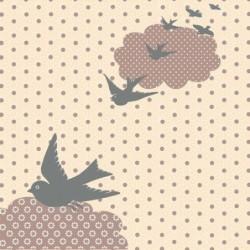 Serviette - Broste Copenhagen - Flying birds