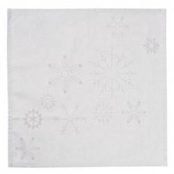 Serviettes de table Rader - Flocons de neige - Set de 2
