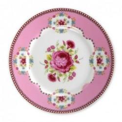 Assiette plate à dessert Roses Pip Studio - rose