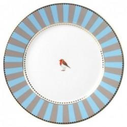 Assiette Pip Studio Love Birds - bande bleue 21cm
