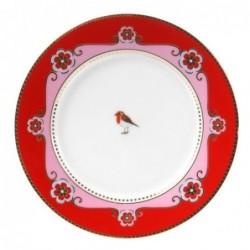 Assiette à dessert Pip Studio Love Birds -  médaillon Rouge 17cm