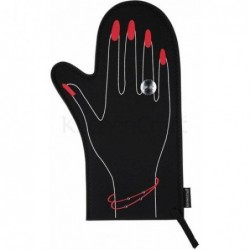 Gant de cuisine - diamant - noir et rouge