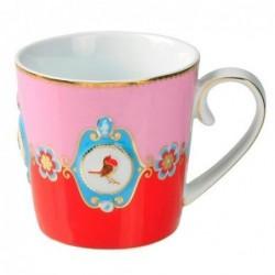 Mug médaillon rouge-rose love bird - Pip studio - 25cl