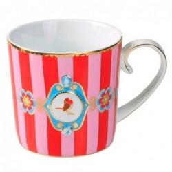 Tasse à café médaillon rouge rose love bird - Pip studio - 15cl