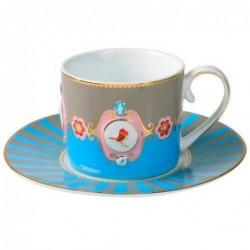 Tasse et soucoupe Pip Studio - love birds - Bleu Kaki