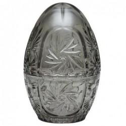 Boite Oeuf de Pâques en verre - Gris