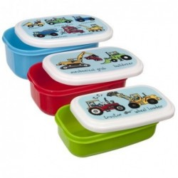 Lot de 3 boites alimentaires - Camions - Tyrrell Katz