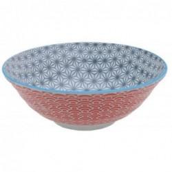 Bol à nouilles - Tokyo Design -  Star Wave Grey Red