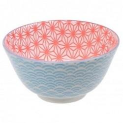 Bol à riz - Tokyo Design - Star Wave Red Light Blue