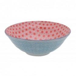 Bol à nouilles - Tokyo Design - Star Wave Red Light Blue