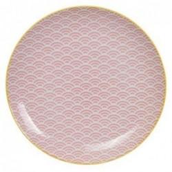 Assiette 26cm - Tokyo Design - Star Wave - Wave Pink Yellow
