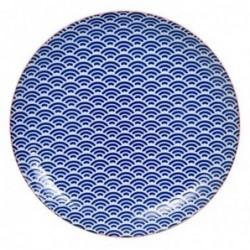 Assiette 26cm - Tokyo Design - Star Wave - Wave Blue Pink