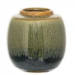 Vase - Bloomingville - vert bleu curry