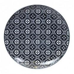 Assiette 26cm - Tokyo Design - Flower - Black