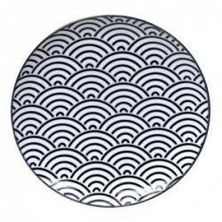 Assiette 26cm - Tokyo Design - Wave - Black