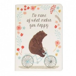 Carnet - Happy animals on bike - Ours - Sass & Belle