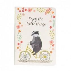 Carnet - Happy animals on bike - Blaireau - Sass & Belle