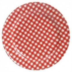 Coffret de 4 assiettes Sarah - At home with Mariecke - rouges - 17 cm