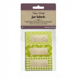 Étiquettes à confiture - Kitchen Craft - Jardin vert