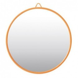 Petit miroir Rond Corail - Rice