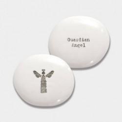 Galet de porcelaine - East of India - Ange gardien