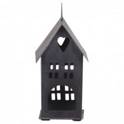 Photophore - Maison en métal noire - Chic Antique - 16 cm