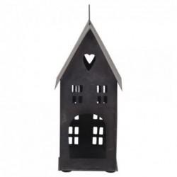 Photophore - Maison en métal noire - Chic Antique - 22 cm