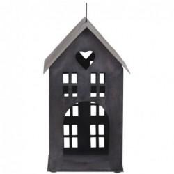 Photophore - Maison en métal noire - Chic Antique - 30 cm