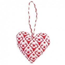 Coeur à suspendre en tissu - Greengate - Reindeer red