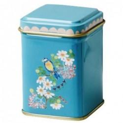Boite à thé - Rice - Turquoise flowers