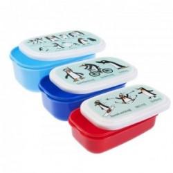 Lot de 3 boites alimentaires - Pingouins - Tyrrell Katz