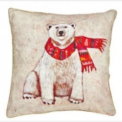 Coussin ours polaire - Rice - 40x40cm