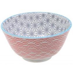 Bol à riz - Tokyo Design - Star Wave Grey Red