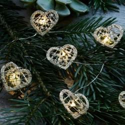 Guirlande lumineuse LED - Sirius - Edith Heart- 16L - Gold