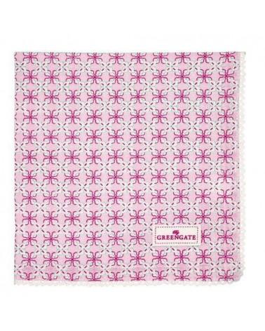 Serviette de table - Greengate - dentelle Harper pale pink