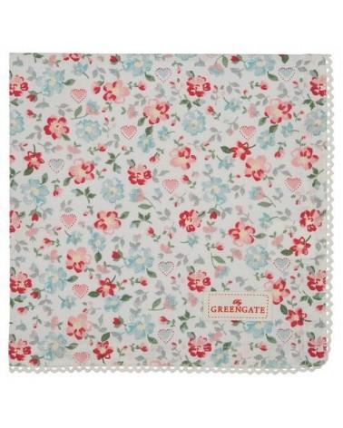 Serviette de table - Greengate - dentelle Merla white
