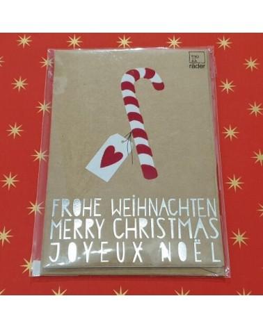 Carte de Noël - Sucre d'Orge - Joyeux Noël - Rader